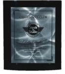 Black Eclipse Piano Finish PlaqueA slight arc of this ebony crescent frame adds an element of interest to this distinctive plaque. Add your custom text & logo to a metal plate in full color or black. Lettering & logo included.Available in 8x10, 9x12, and 11x13   New item!Call 800-830-3386 to buy now!