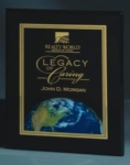 8 x 10 Black Piano Finish Plaque with Earth Motif
